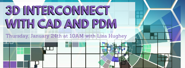 Register for our webinar, 3D Interconnect with CAD and PDM