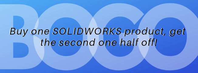 Buy one SOLIDWORKS Product and get a second one half off!
