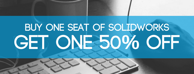 Buy one seat of SOLIDWORKS, get one 50% off